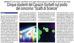 Primapagina 1 maggio scatti di scienza