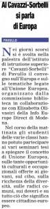 primapagina 11 maggio 2015 si parla di Europa