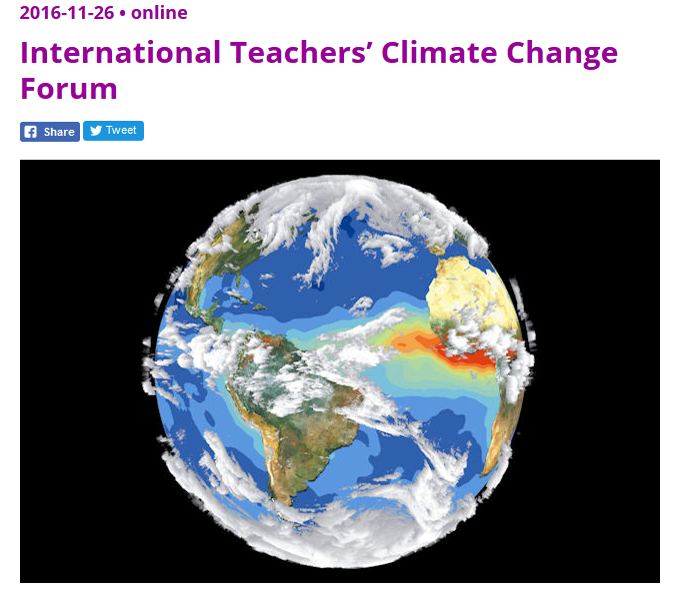 MoM @ LUMA: International Teachers' Climate Change Forum